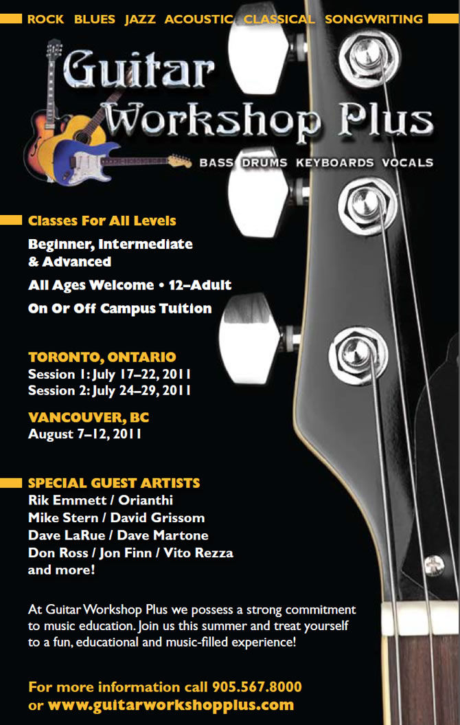 Guitar Workshop Plus Program | Canada 2011