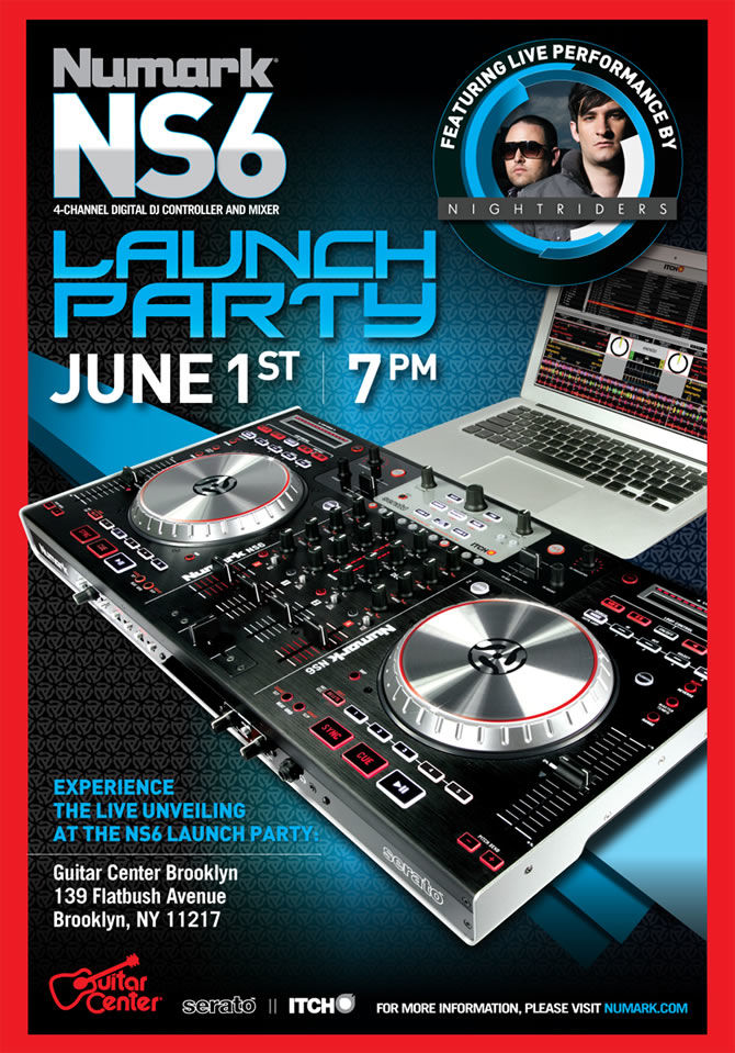 New DJ Controller | Numark NS6 will be launched on 1st June