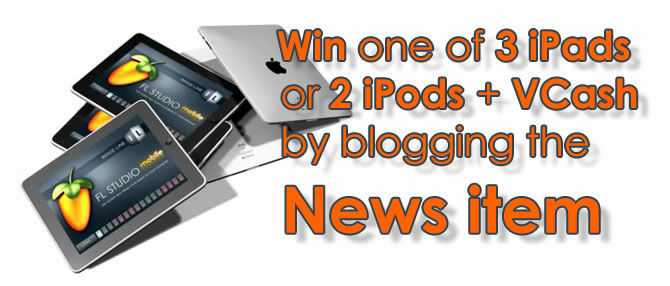 Win an iPhone or an iPod or an iPad with Fruity Loops Studio Mobile