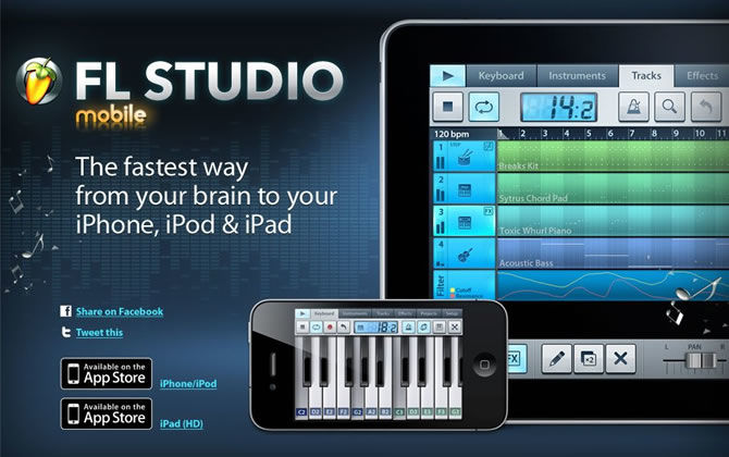 Image Line Fruity Loops Mobile is available for iPhone, iPod and iPad