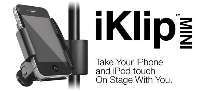 IK Multimedia ships iKlip Mini - The universal microphone stand adapter for iPhone and iPod touch