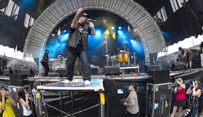 Latino hip-hop group Cypress Hill was just one of many great acts that played at Montréal's three-day Osheaga Festival of the Arts using Sennheiser 2000 Series vocal mics and wired instrument mics. (Photo Credit: © 2011 Pat Beaudry/Nick Leger)