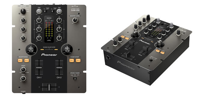 Pioneer intros DJM-250, a 2-channel entry level mixer for Djs