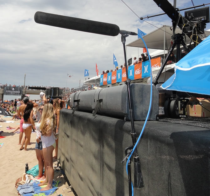 The Sennheiser MKH 8070 was a core component of the US Open of Surfing broadcast