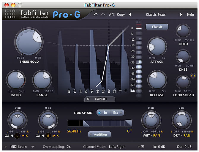 FabFilter updates Pro-G to version 1.0.1