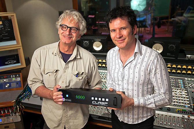 Aerosmith producer Jack Douglas and engineer Warren Huart, with CLASP™ from Endless Analog, which they are using on sessions for Aerosmith's upcoming LP.
