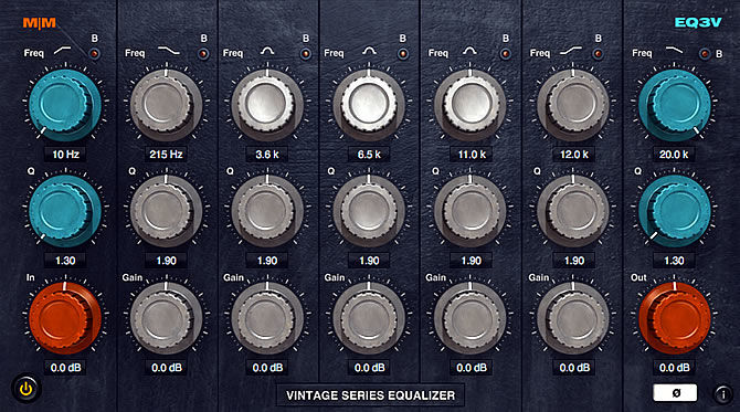Mellowmuse EQ3V - Vintage Equalizer RTAS, AudioUnit and VST Plug-in for OSX and Windows