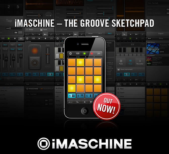 Create beats and grooves on-the-go because Native Instruments iMaschine is available now