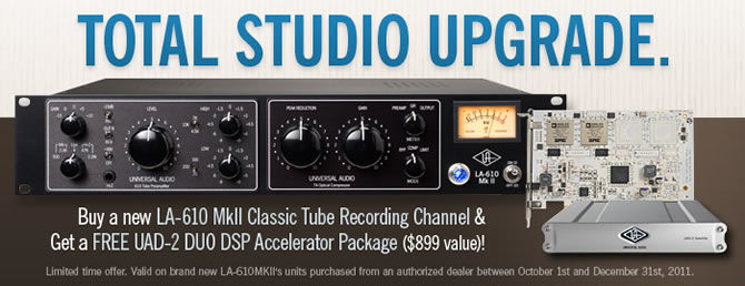 Universal Audio's Total Studio Upgrade Promotion