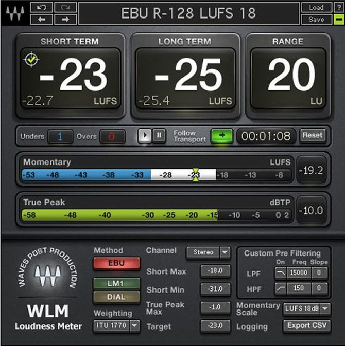 Waves Audio WLM Loudness Meter Now Shipping