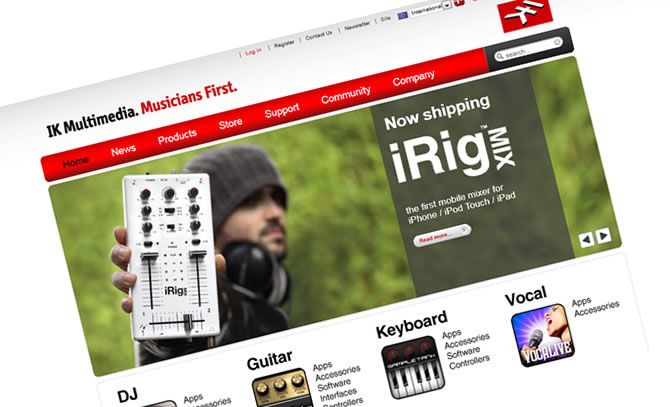 IK Multimedia Launches New Website | New interface, improved support, new online store and multiple language capability