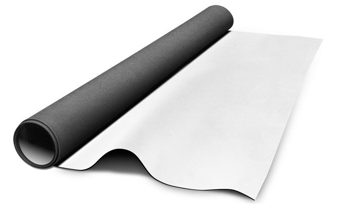 Auralex Acoustics, Inc., has announced its new SheetBlok-AF Sound Isolation Barrier material. Based on the company's popular SheetBlok construction-grade sound barrier product, SheetBlok-AF is a thin, dense isolator with a Class A fire-rated PVC laminate on its surface for a finished look. SheetBlok-AF Sound Isolation Barrier is intended as a solution for improved sound isolation between adjacent spaces in the retrofit market where aesthetic appearance is important, but invasive construction and demolition are impossible. With an STC rating of 27 or greater, SheetBlok-AF is at least 6dB more effective than solid lead at stopping the transmission of sound. It acts as a thin, dense sound barrier layer in wall, ceiling and floor systems and is most effective when used as one component of a multi-layered construction scheme, as described in Auralex's widely respected Acoustics101 publication.