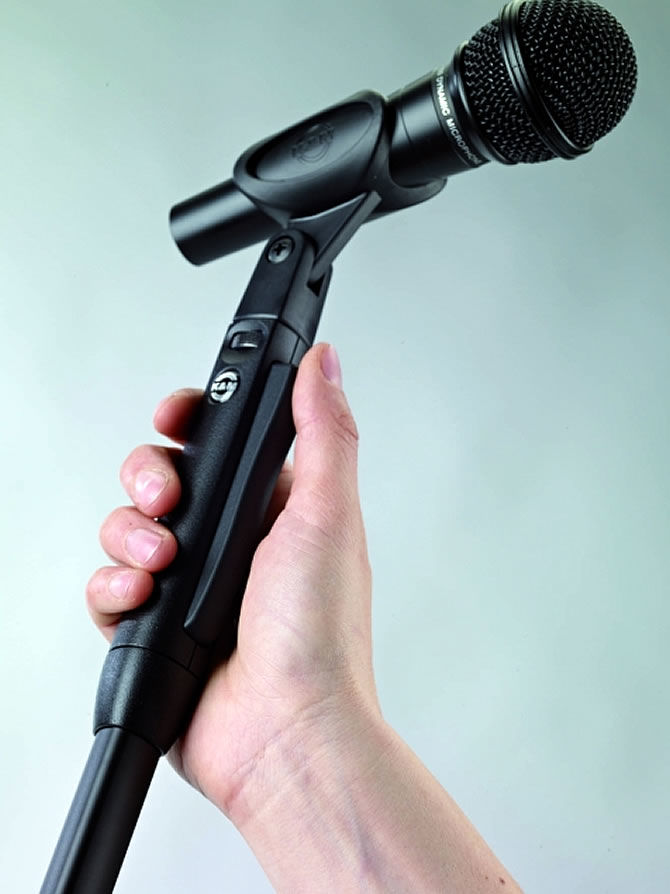 Elegance - The New One-Hand Microphone Stand from Konig & Meyer