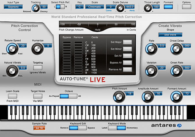 Antares Audio Technologies introduces Auto-Tune Live - The Real-Time Pitch Correction and Auto-Tune Vocal Effect