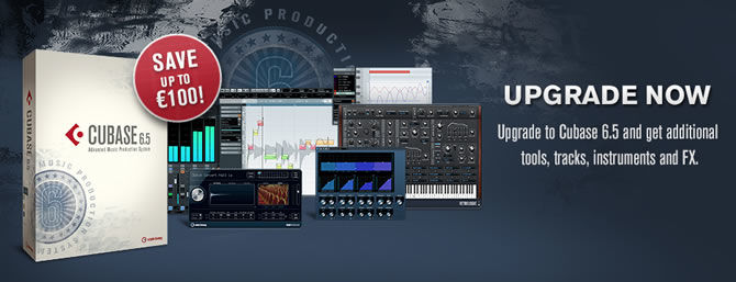 Time-limited offer: upgrade to Cubase 6.5 and save up to EUR 100!