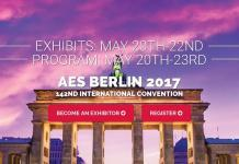 AES Berlin Convention Advance Registration Online Now