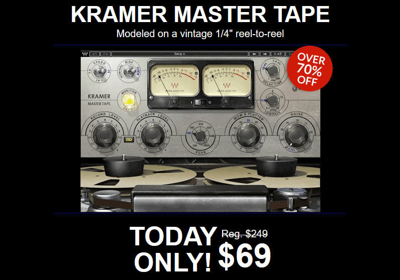 TODAY ONLY - $69 for Waves Kramer Master Tape
